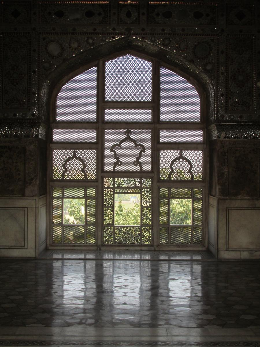 Window on the world -- at the Lahore Fort