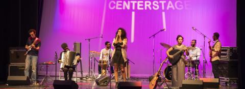Dina El Wedidi at the KC Millenium Stage by Adam Lee