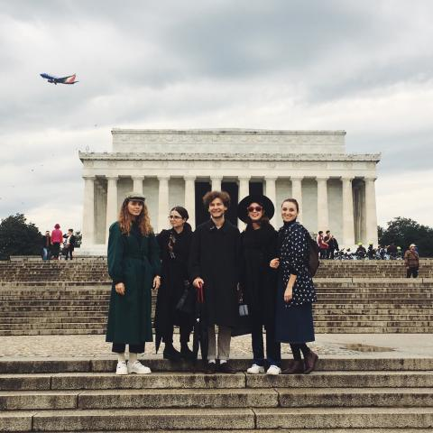 Teatr-Pralnia with CCA Dakh at the Lincoln Memorial, courtesy of Teatr-Pralnia