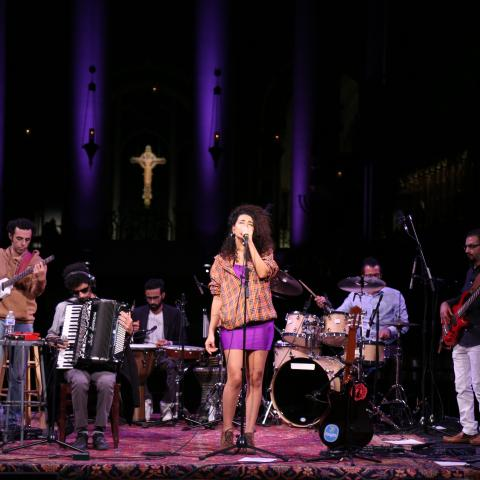 Dina El Wedidi Performing at Cathedral of St. John the Divine, by Nourhan Magdi