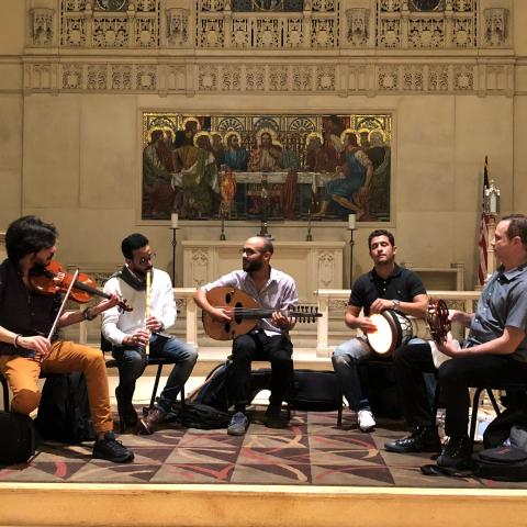 Mohamed Abozekry and Karkade at St. Stephen's Church in Philly, by Shereif Elktasha