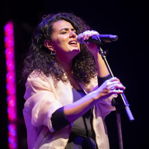Dina El Wedidi at the Kennedy Center Millennium Stage, by Adam Lee